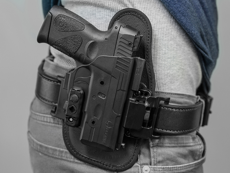 wearing the taurus pt111 g2 owb concealement holster