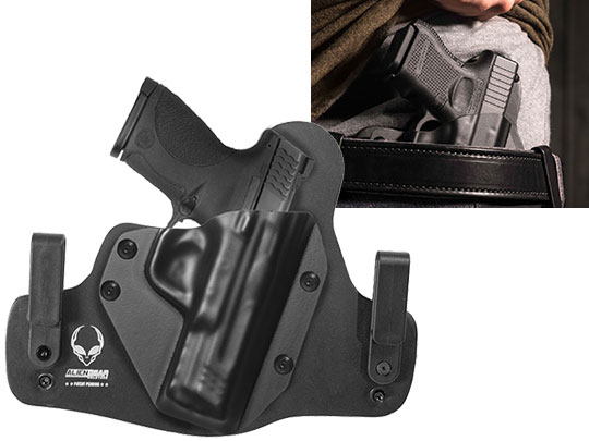 Leather Hybrid S&W M&P45c Compact 4 inch barrel Holster