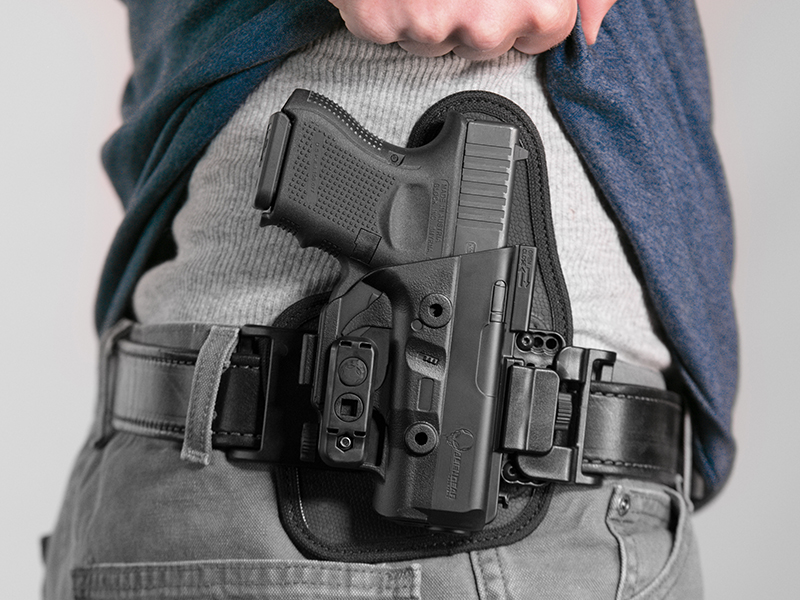 wearing the glock 26 owb slide holster