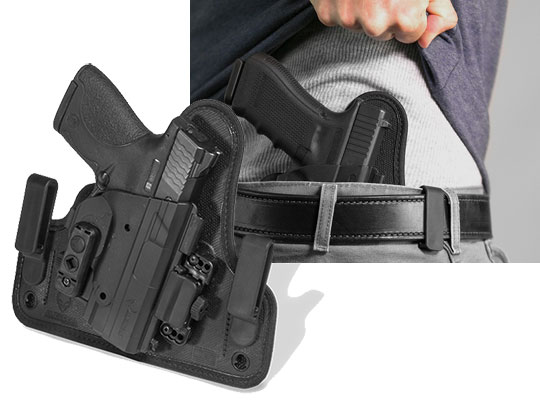 shield 40 caliber inside the waistband shapeshift holster