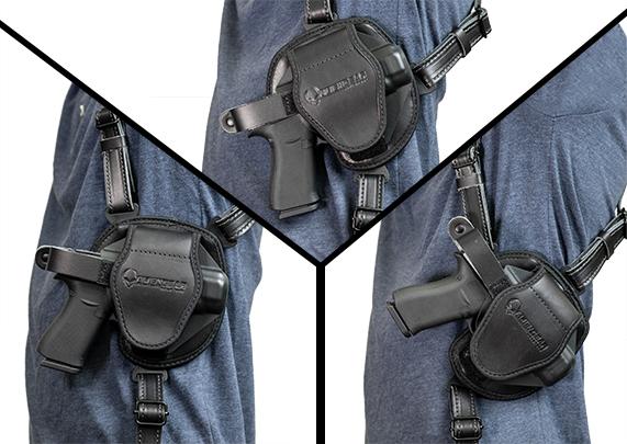 Sig P238 with Factory Laser X38-TGL alien gear cloak shoulder holster