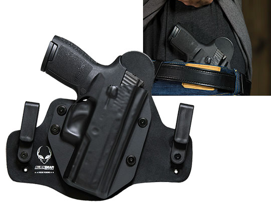 Hybrid Leather Sig P250 Compact with Picatinny Rail Holster