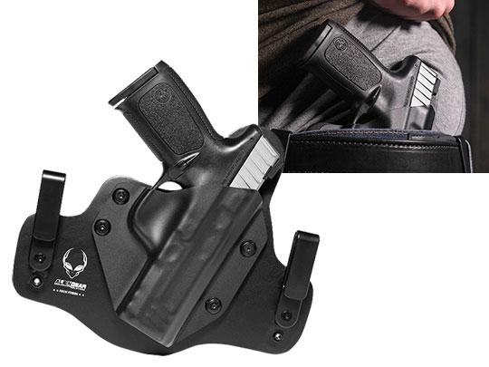 S&W SD9 VE IWB Leather Hybrid Holster