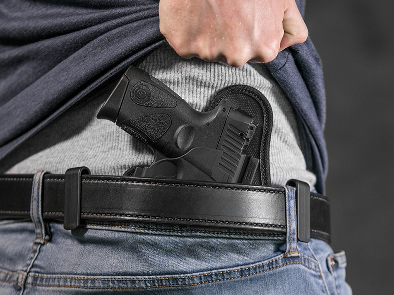 wearing the ruger lc9s iwb holster