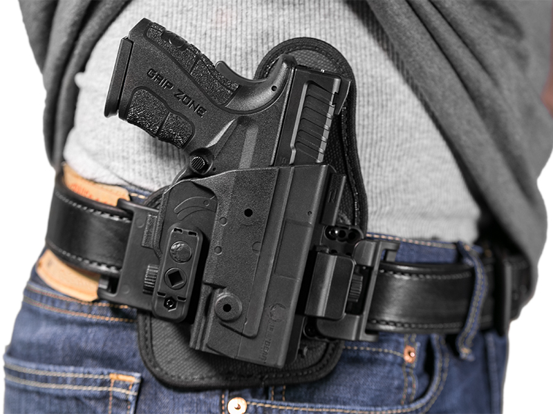 wearing xdm 3.8 compact slide holster