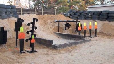 Home-made backyard shooting range