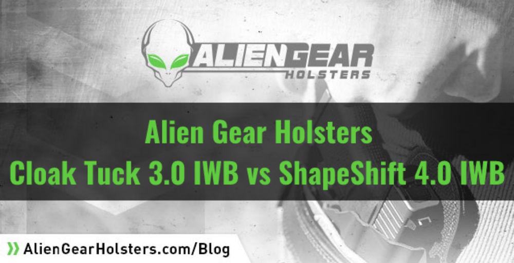Alien Gear Holsters' Cloak Tuck 3.0 vs ShapeShift 4.0 IWB Holster