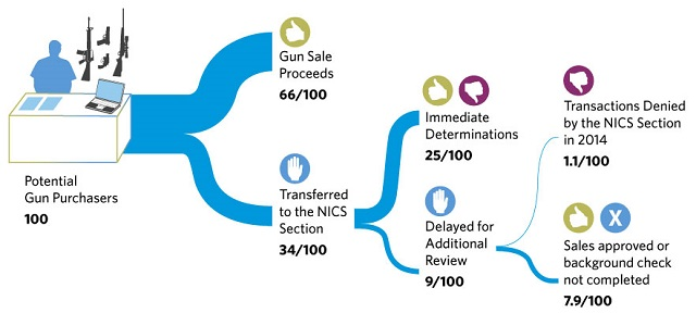Flow chart of a gun purchase