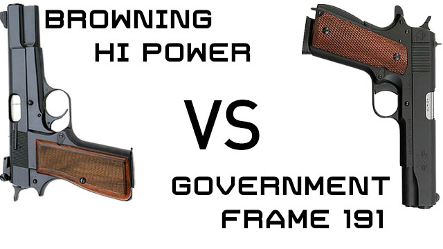 The Browning Hi-Power vs Browning 1911