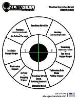 right-handed corrective target