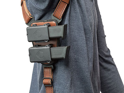 configurations of the shapeshift shoulder holsters