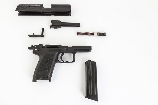 disassembled gun