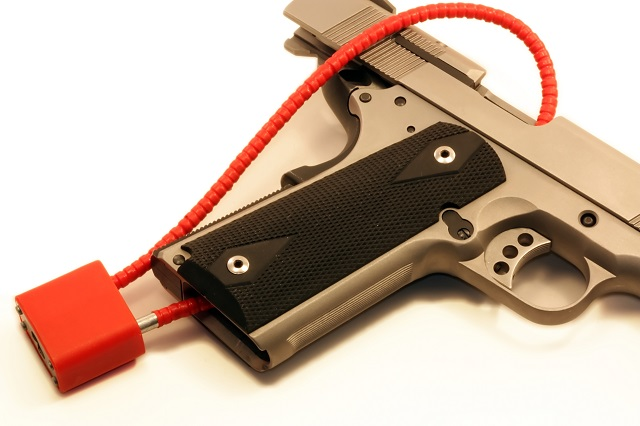 gun locked up