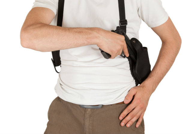 how to use a shoulder holster