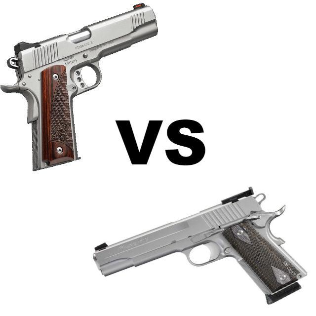 sig 1911 vs kimber 1911