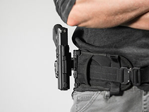 MOLLE polymer holster on the shapeshift platform