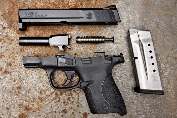 S&W M&P Shield Disassembled