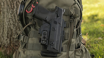 Wearing the ShapeShift MOLLE Holster