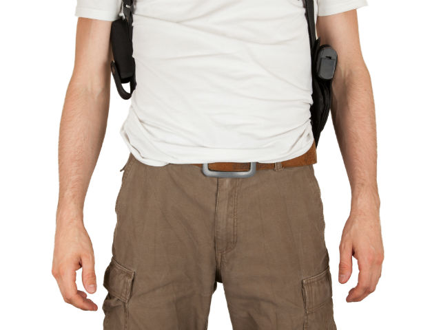 guide to shoulder holster