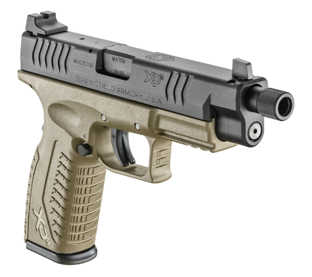 Springfield XDM 4.5 inch with threaded barrel opposite side
