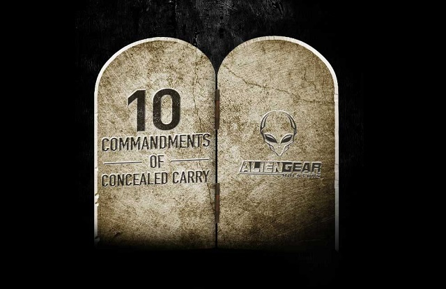10 concealed carry commandements