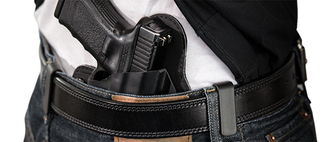 concealed carry weapon holstered inside the waistband