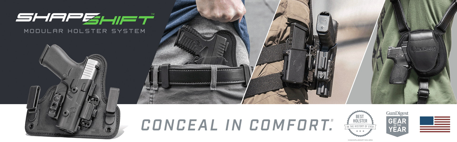 ShapeShift Modular Holster System Conceal in Comfort