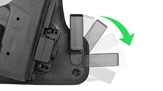 fully adjustable holster clip