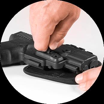 gun holster adjustment