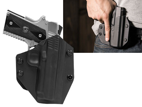 OWB Carry with 1911 4 inch paddle Holster