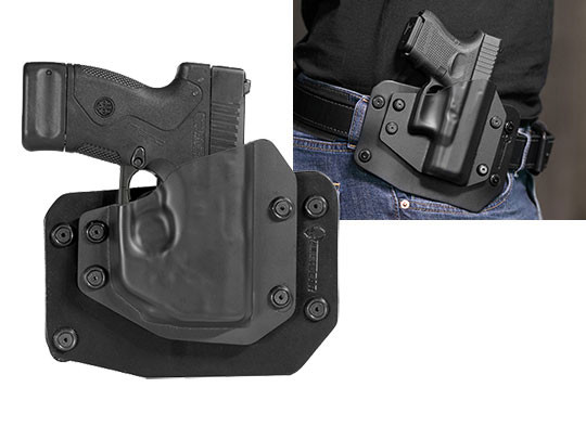 Beretta Nano (BU9) with LaserMax Laser Outside the Waistband Holster