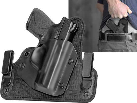S&W M&P Shield .45 M2.0 w/ Integrated Crimson Trace Green/Red Laser Cloak Tuck 3.5 IWB Holster (Inside the Waistband)