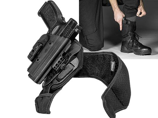 Springfield XD 4 inch barrel ShapeShift Ankle Holster