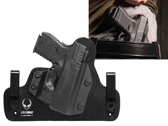 Leather Hybrid Springfield XDs 3.3 with Viridian Reactor R5 Green/Red Laser ECR Holster