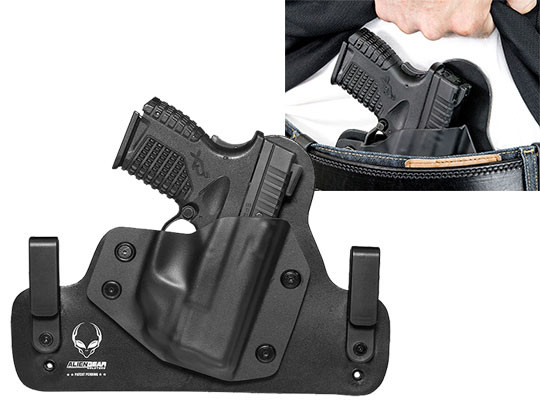 XDS 3.3 with crimson trace laser Leather IWB Hybrid Holster