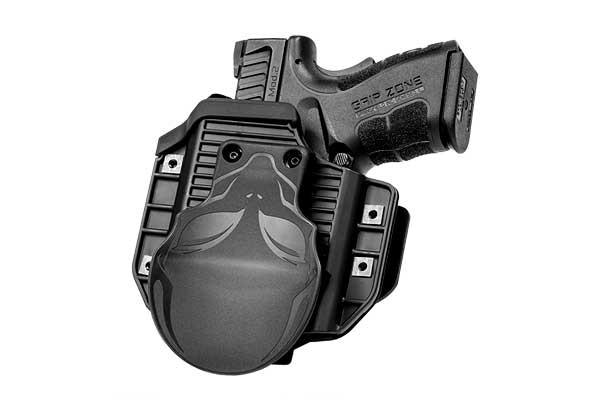 S&W M&P Shield 40 caliber with Viridian Reactor R5 Tactical Light ECR Cloak Mod OWB Holster (Outside the Waistband)