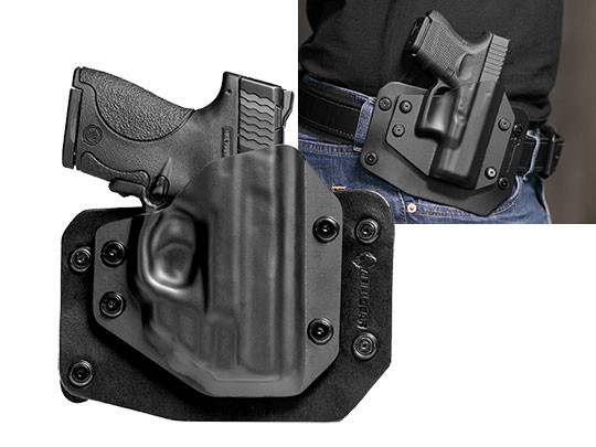Shield 9mm Green Laser OWB Concealment Holster