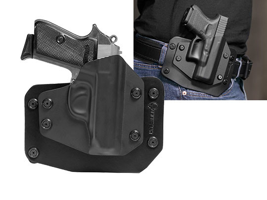 wearing a Walther PPK PPK/S outside the waistband