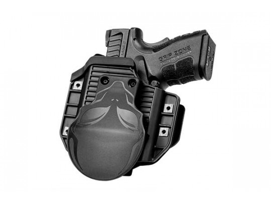 Glock - 19 with Crimson Trace Defender Laser DS-121 Cloak Mod OWB Holster (Outside the Waistband)