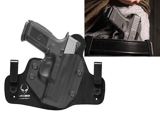 Leather Hybrid FNH FNS Compact Holster