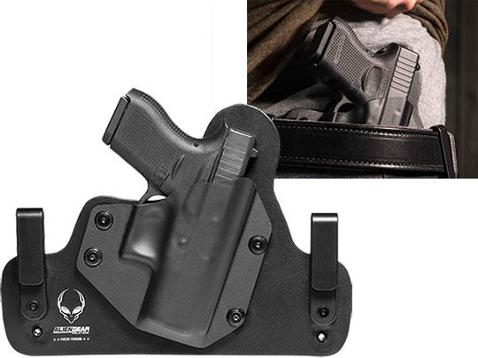 Glock 42 Leather Hybrid Carry Holster