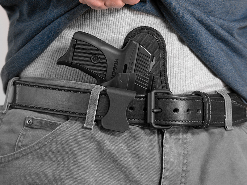 wearing a ruger lc9 aiwb holster