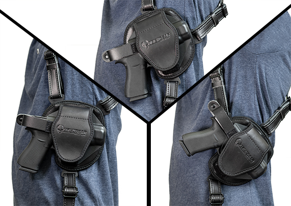 Kahr PM 40 with Crimson Trace Laser LG-437 alien gear cloak shoulder holster