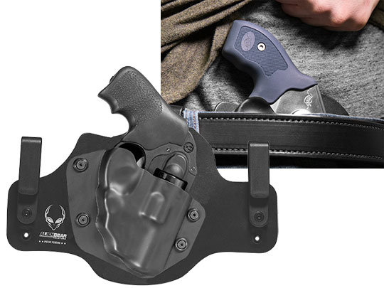 Leather Hybrid Ruger LCR 38 SPL with LaserMax Laser Revolver Holster