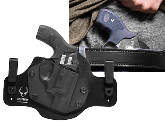 Hybrid Leather Holster For S&W Bodyguard 38 Revolver w/ Integrated Laser