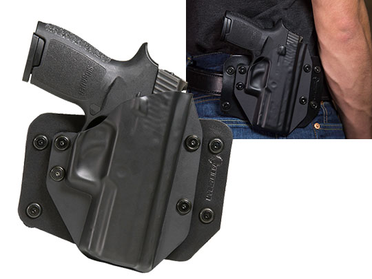Good Sig P250 Compact with Picatinny Rail OWB Holster