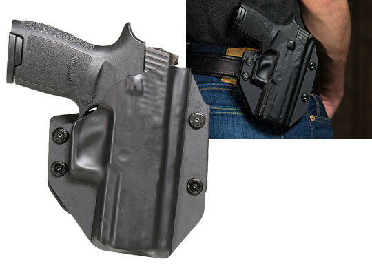Paddle Holster OWB Carry With Sig P250 Compact