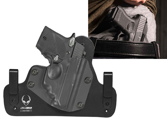 Sig P938 with Crimson Trace Laser LG-492 Outside the Waistband Holster