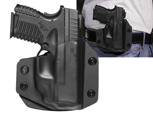 Paddle Holster OWB Carry an XDS 3.3 with Crimson Trace