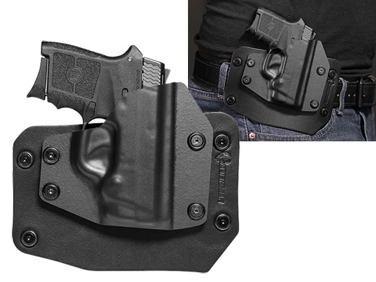 Good S&W Bodyguard .380 Auto w/ Integrated Laser OWB Holster